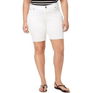 Celebrity Pink Bermuda Shorts Optic White Plus Raw